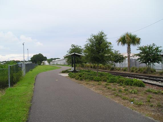 Preserved rail bed.