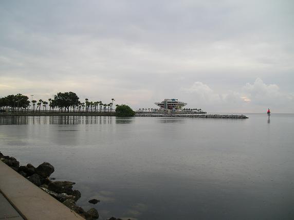 St. Petersburg Pier as viewed from Demens Landing - downtown St. Petersburg