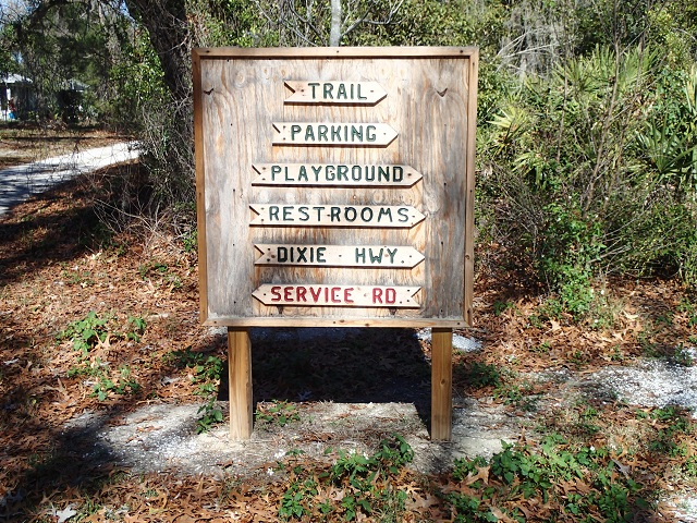 Directional Sign in N. Anclote River Nature Park
