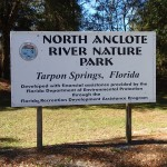 Main Entrance Sign for N. Anclote River Nature Park