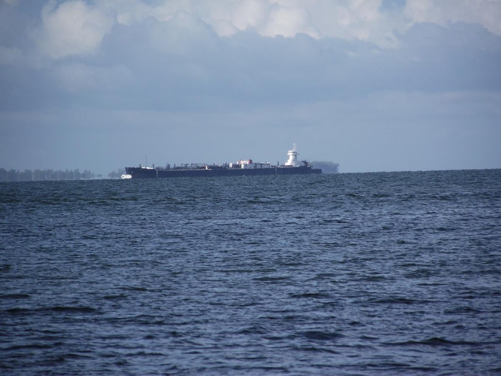 Skyway Trail - Tanker moving through shipping lanes