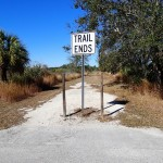 Trail End at N. Anclote River Nature Park