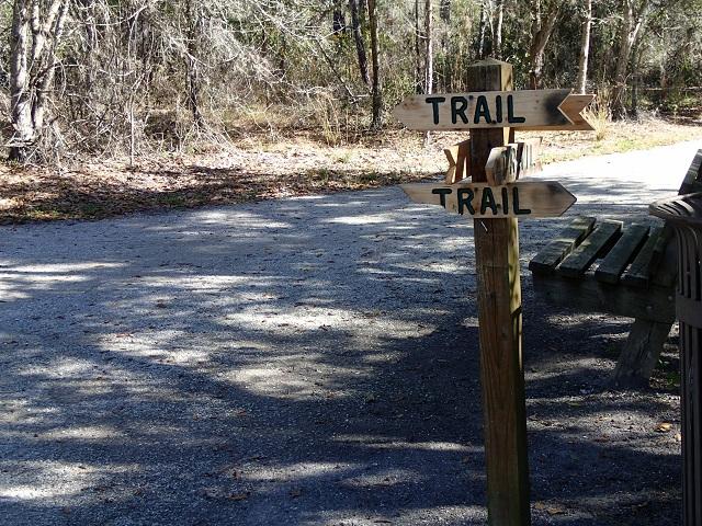 Trail Signage at N. Anclote River Nature Park