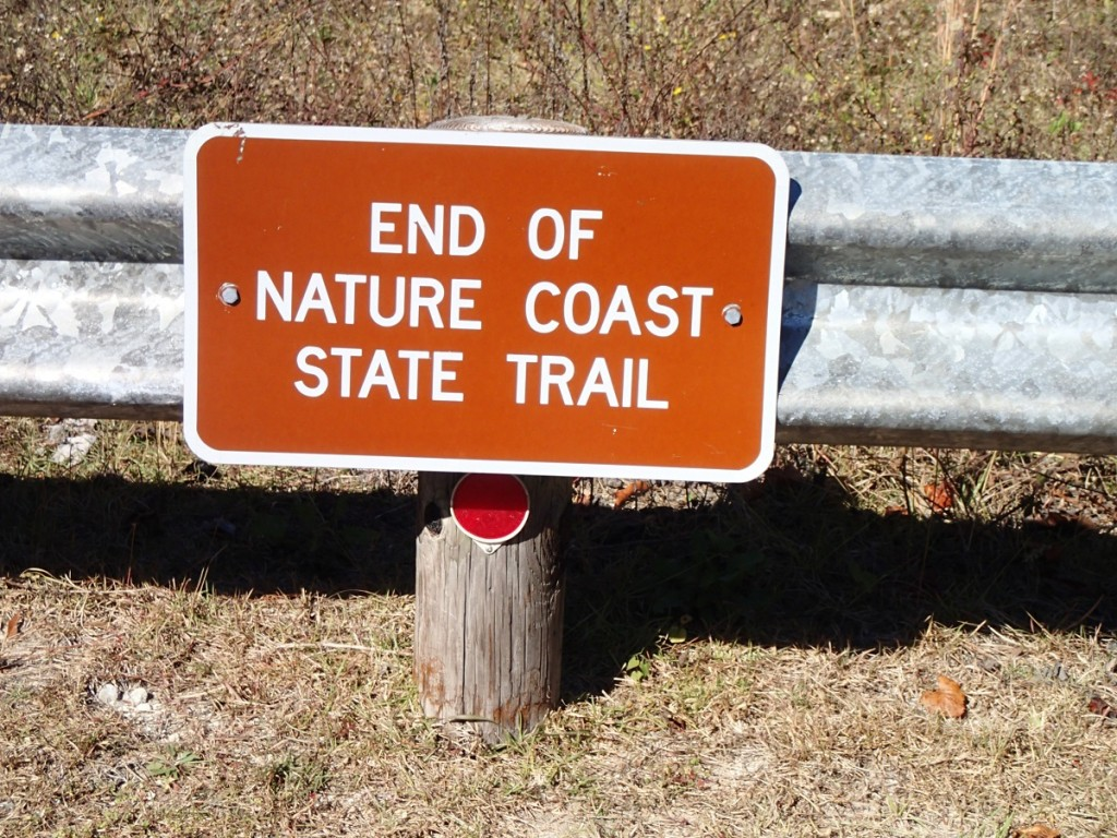Nature Coast State Trail - Trail End Sign Cross City