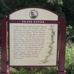 Fort Fraser Trail - Peace River Sign