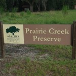 Prairie Creek Preserve Sign