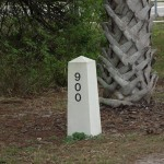 Legacy Trail - Concrete Railroad Marker - Mile 900