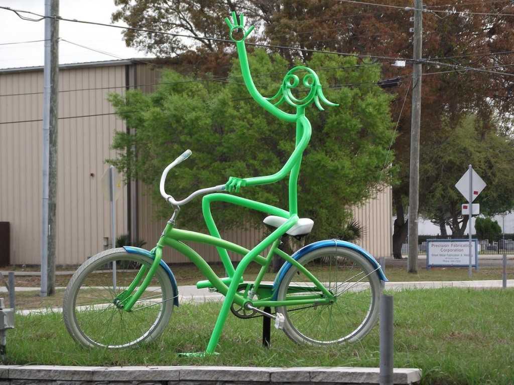 Legacy Trail - Girl on Bike Sculpture