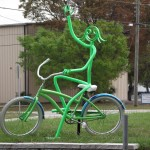 Legacy Trail - Girl on Bike Sculpture