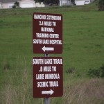 South Lake Trail - Mileage Signs