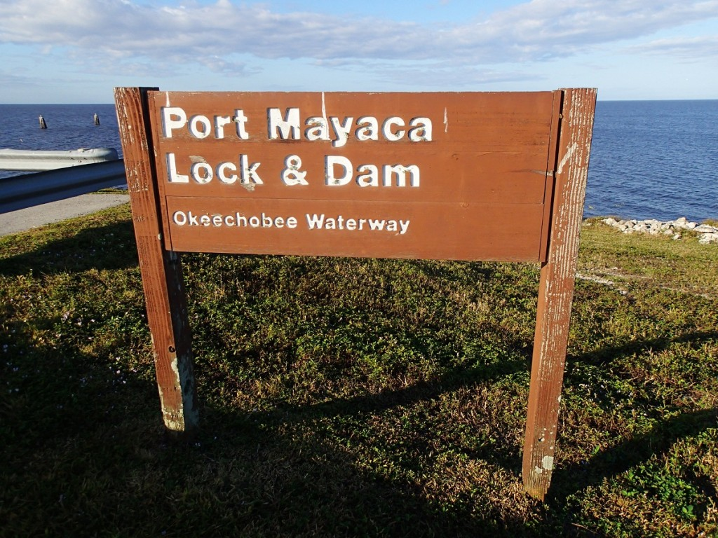 LOST - Port Mayaca Lock & Dam Sign