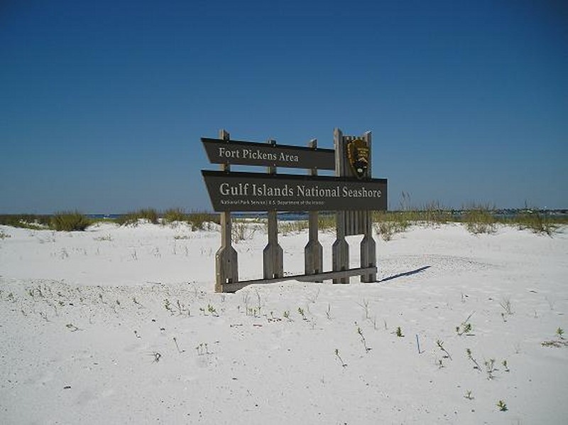 Gulf Islands National Seashore - Sign