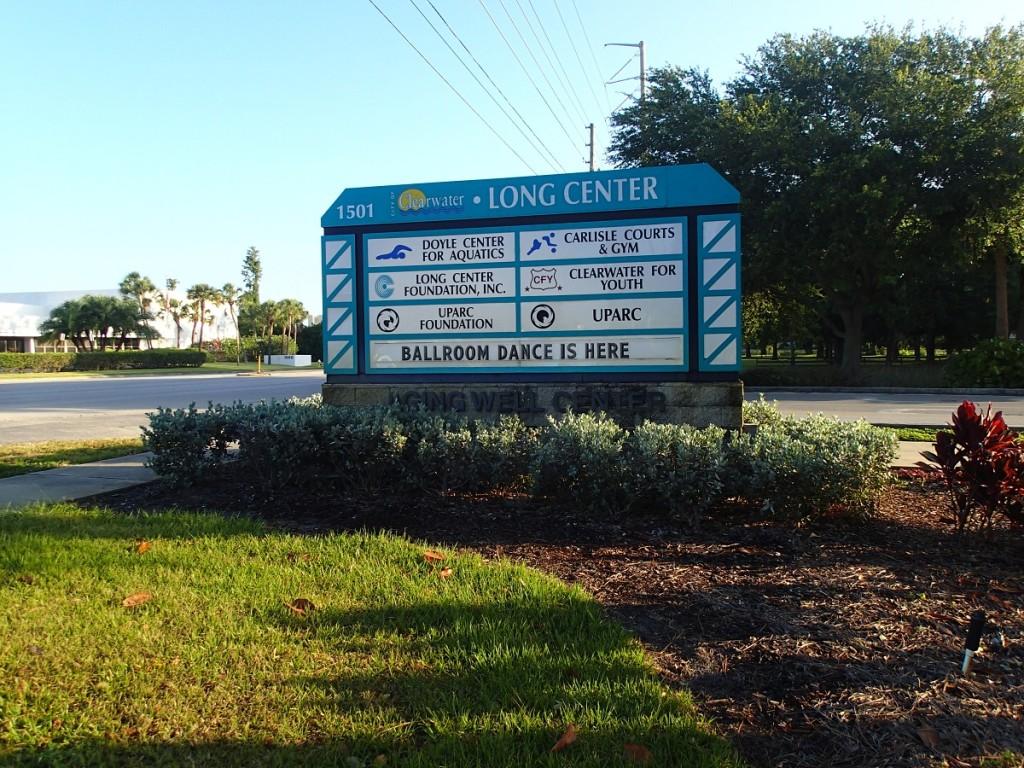 Trailhead sign for Long Center (Belcher Road)