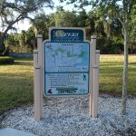 Long Center trail sign along Ream Wilson Trail