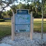 Long Center trail sign along Ream Wilson Trail