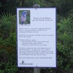 Venetian Waterway Park - Scrubjay Habitat Sign