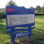 Venetian Waterway Trail - Skip Stasko Park Sign