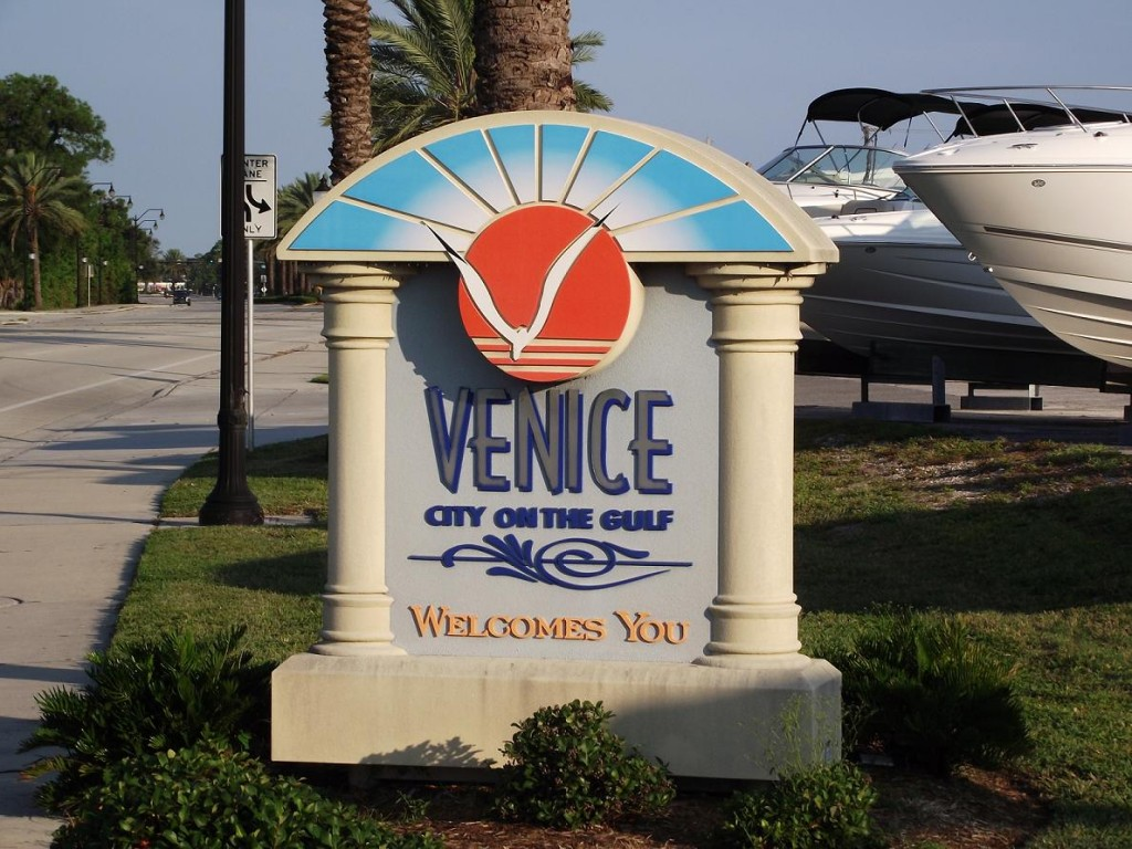 Venetian Waterway Park - Welcome Sign