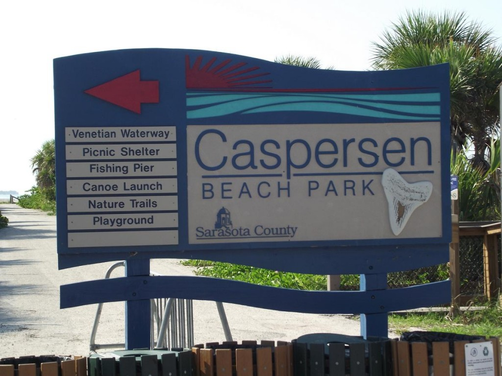 Venetian Waterway Park - Caspersen Beach Park Sign