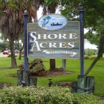 Shore Acres Welcome Sign