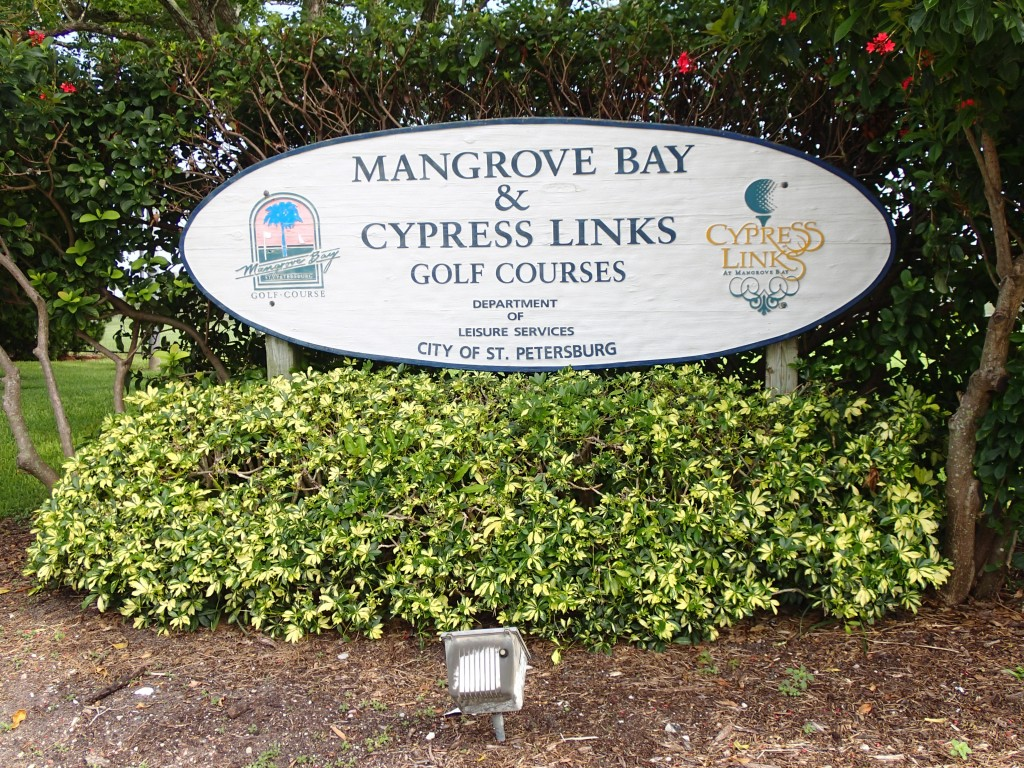 Mangrove Bay & Cypress Loop Golf Course Sign
