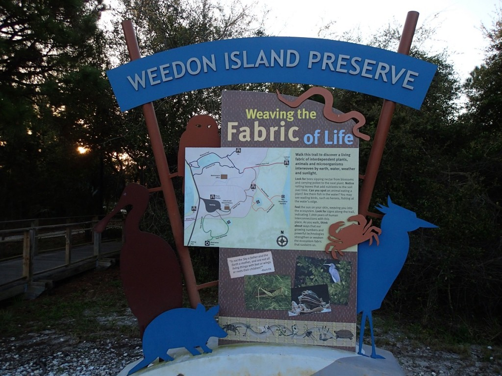 North Bay Trail - Weedon Island Preserve Sign