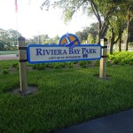 North Bay Trail - Riviera Bay Park Sign