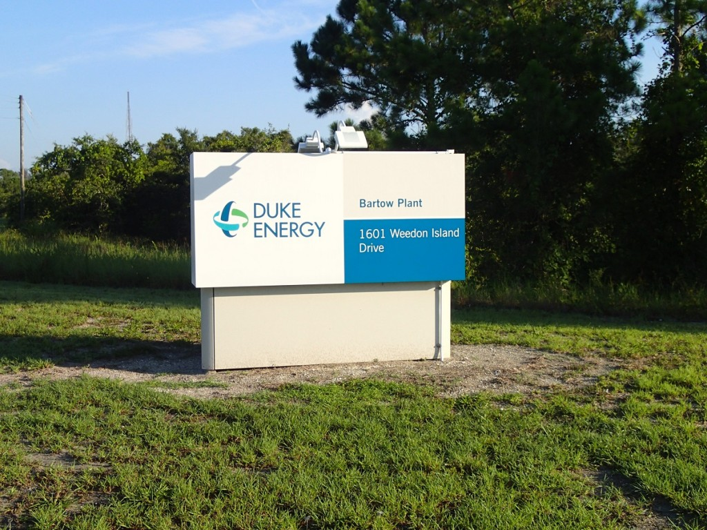 North Bay Trail - Duke Energy Bartow Plant Sign