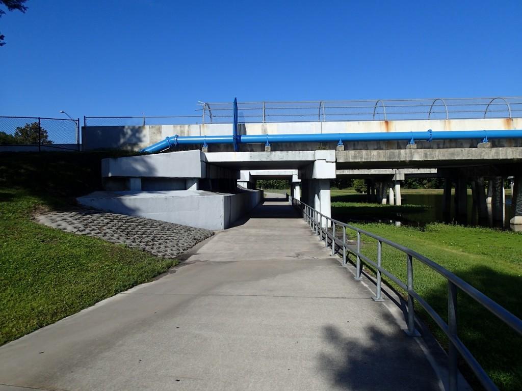 Little Econ Greenway - Highway 417 Underpass looking West