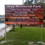 Ivey Memorial Park Sign
