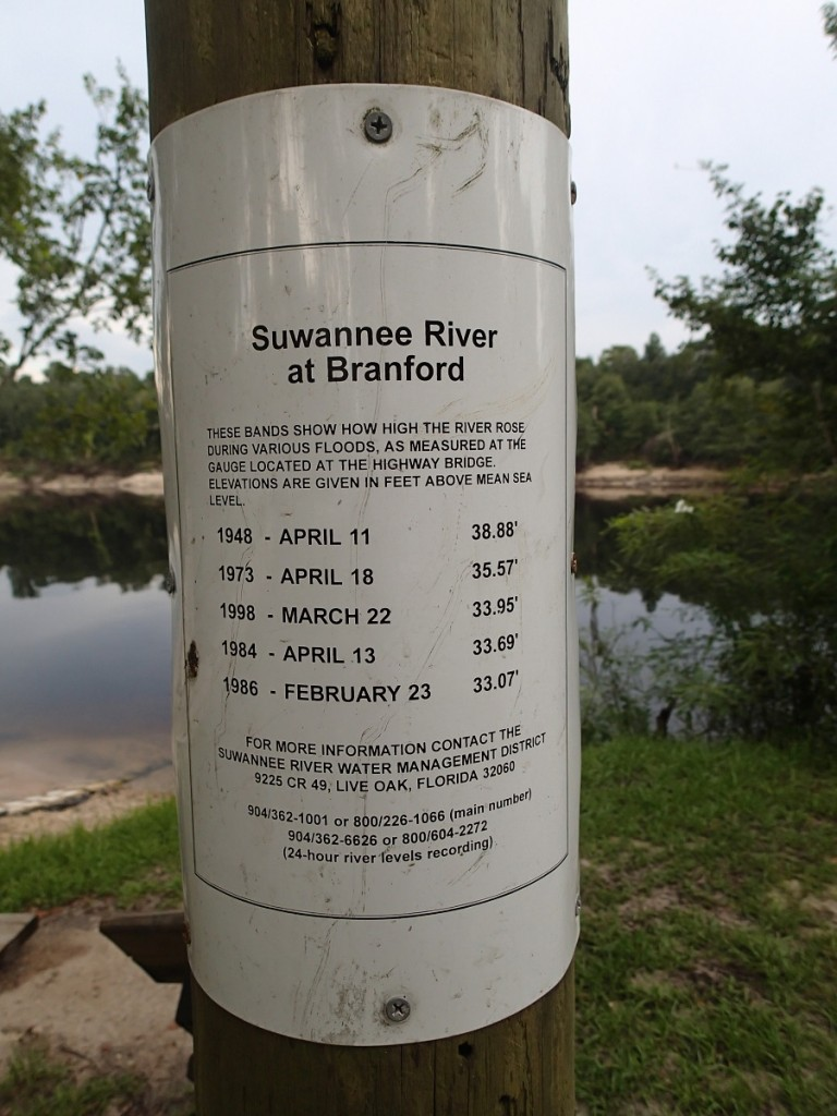 Suwannee River Greenway - Flood Stages Suwannee River