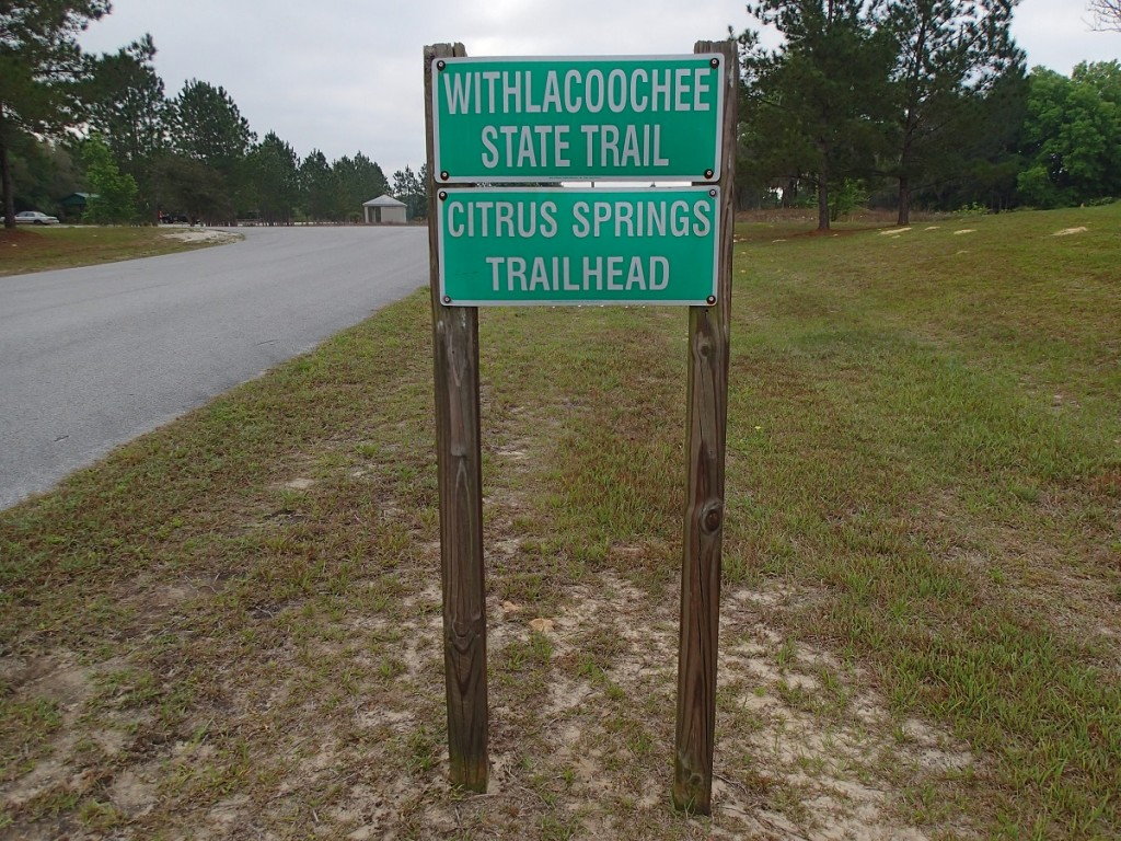Withlacoochee State Trail - Citrus Springs Trailhead Sign
