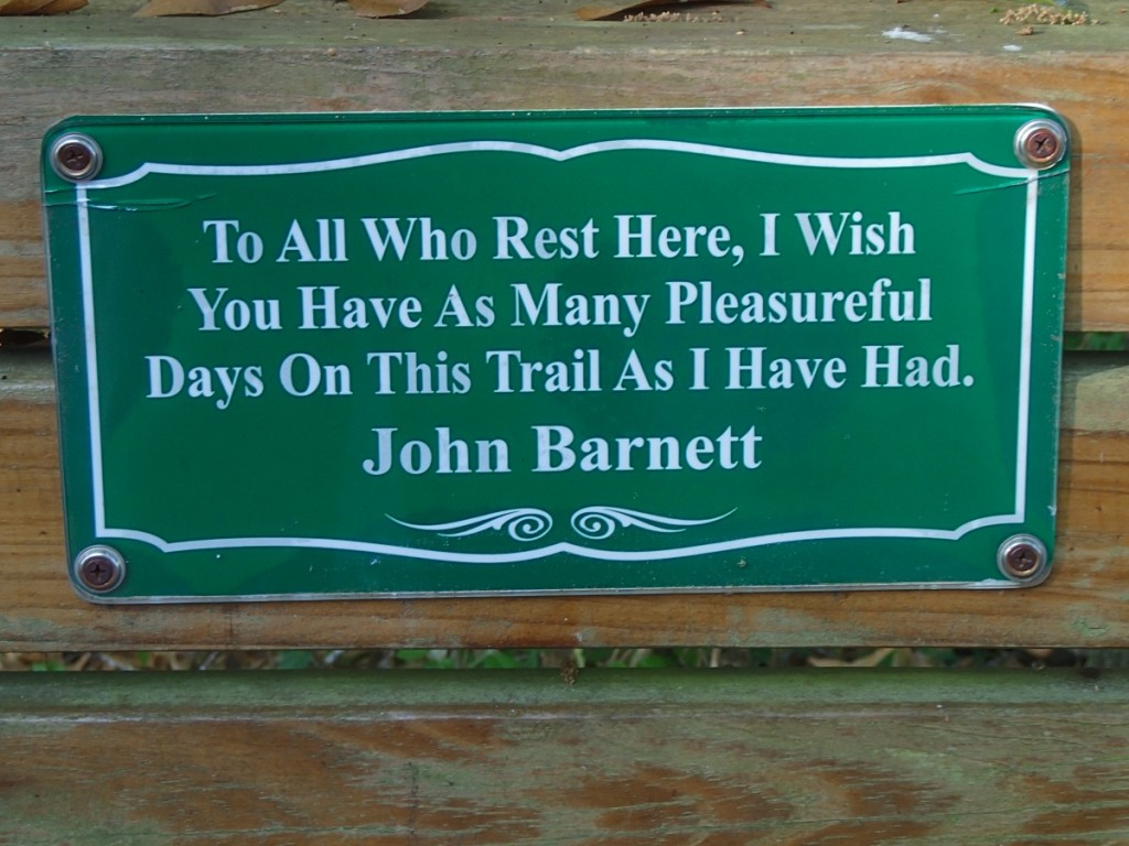 Withlacoochee State Trail - John Barnett Sign
