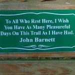Withlacoochee State Trail - John Barnett Sign