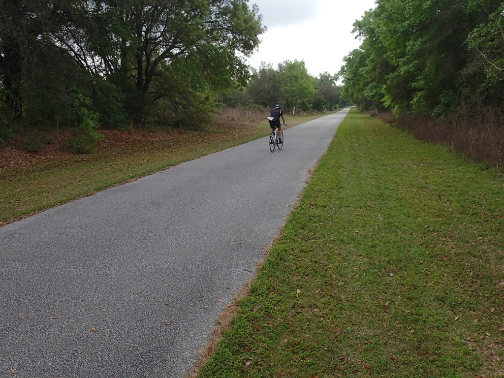 Withlacoochee State Trail - Ciclist Heading North