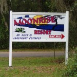 Withlacoochee State Trail - Moonrise Resort Sign