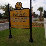 Withlacoochee State Trail - Inverness Trailhead Sign
