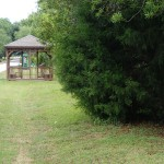 Withlacoochee State Trail - Gazebo and Railroad Marker