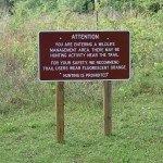 Withlacoochee State Trail - Mixed Message Sign