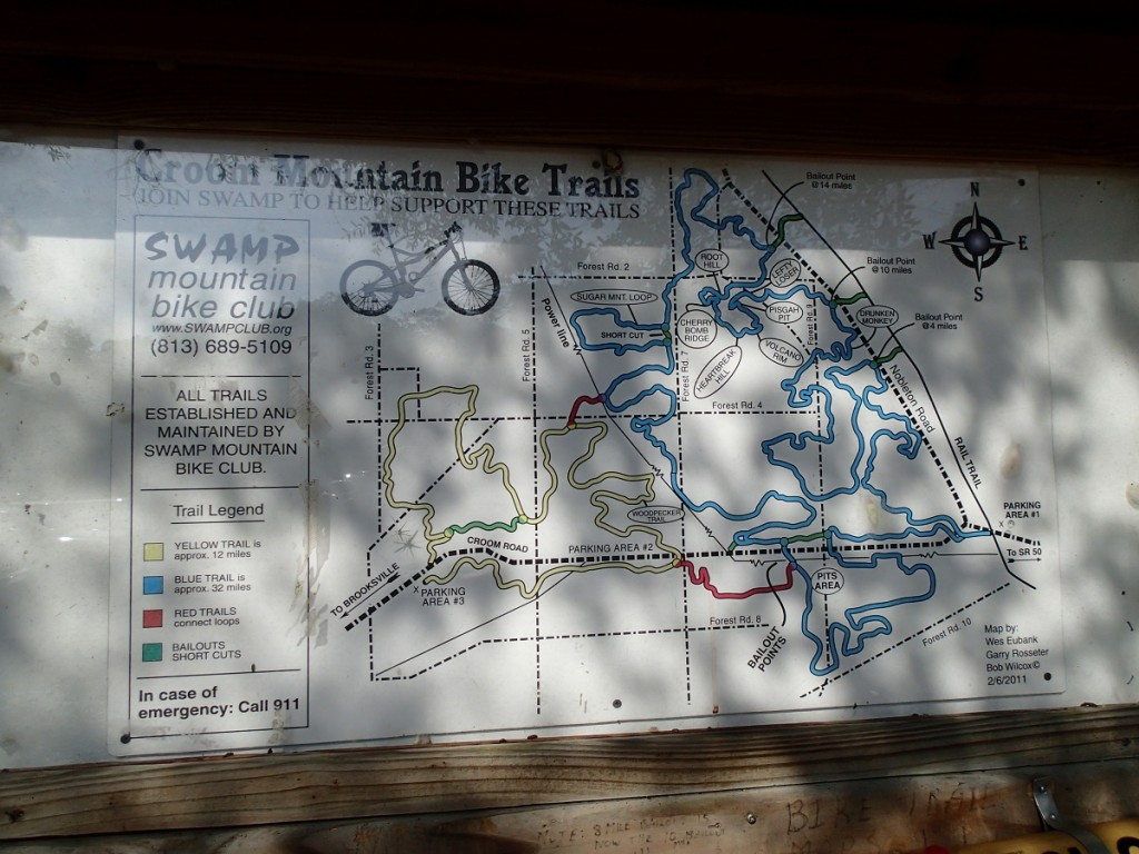 Withlacoochee State Trail - Croom Mountain Bike Trails Map