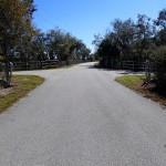 Trail crossroads in N. Anclote River Nature Park