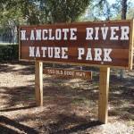 Entrance sign for N. Anclote River Nature Park