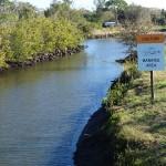 Clam Bayou Manatee Sign
