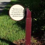 Fort Fraser Trail - Lincoln Quote Sign