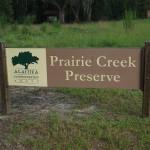 Prairie Creek Preserve Sign