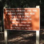 Boulware Springs Trailhead Sign