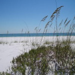 Fort Pickens - Looking south over Gulf