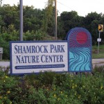 Venetian Waterway Trail - Shamrock Nature Center Sign