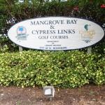 Mangrove Bay & Cypress Loop Golf Course Sign