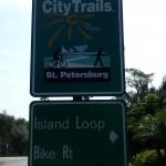 Island Loop Bike Route Sign